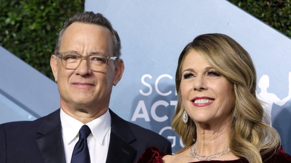Tom Hanks und Rita Wilson (im Januar 2020): Vorerst muss das Paar in Quarantäne bleiben