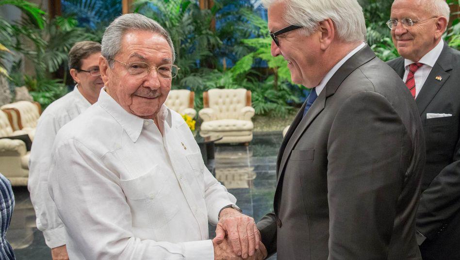 Besuch in Kuba: Steinmeier spricht mit Castro über Menschenrechte
