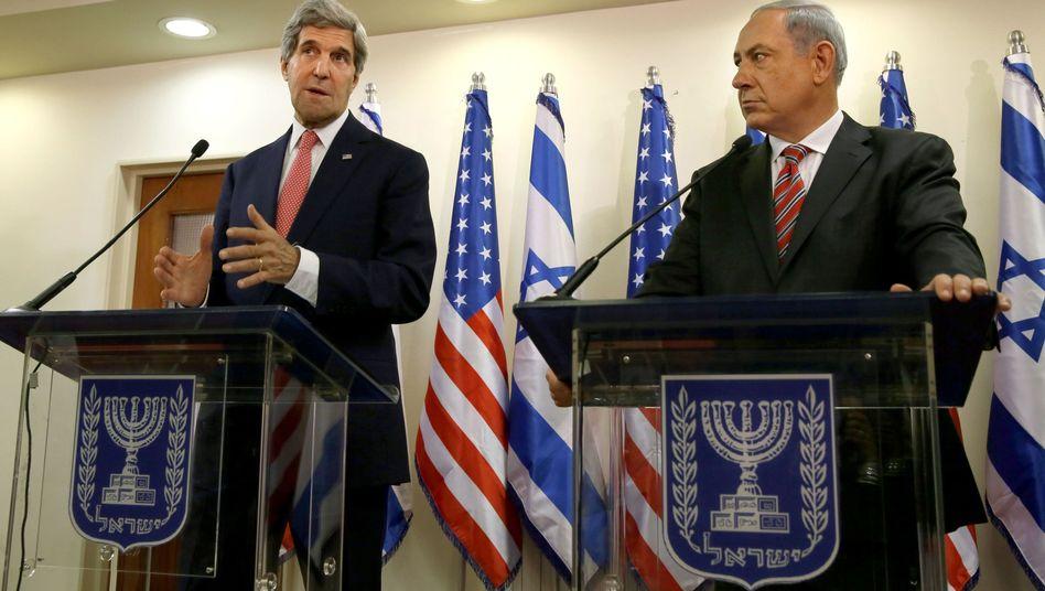 U.S.-Außenminister Kerry, israelischer Premier Netanyahu: Realpolitisches Kalkül