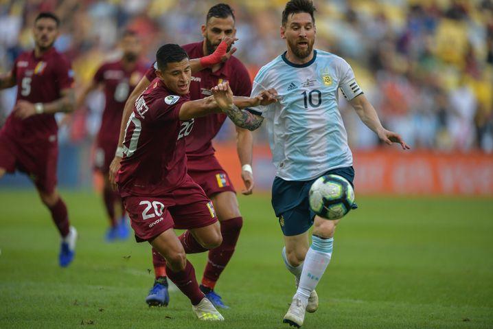 Auf Lionel Messi ruhen die Hoffnungen vor dem Halbfinale