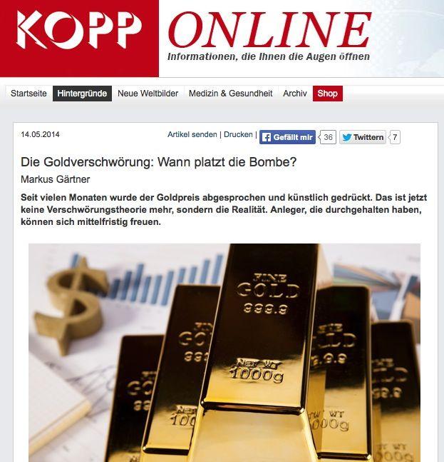 EINMALIGE VERWENDUNG NUR ALS ZITAT Kopp-Verlag / Screenshot