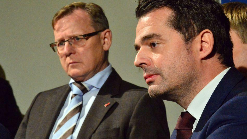 """Thüringens Ministerpräsident Ramelow, CDU-Chef Mohring: """"Parlament gestärkt"""""""