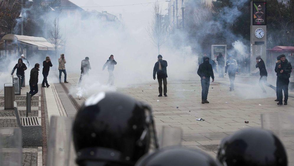 Unruhen in Kosovo: Proteste in Pristina