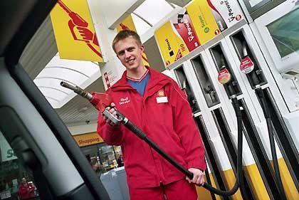 Der rote Mann von Shell: Immer schön freundlich