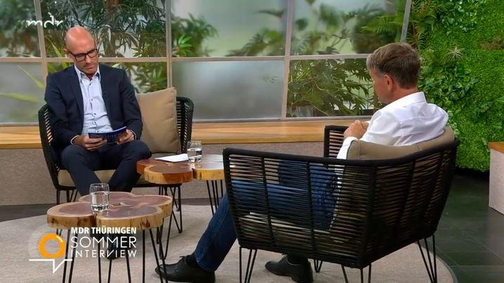 Interviewer Lars Sänger im Gespräch mit Björn Höcke