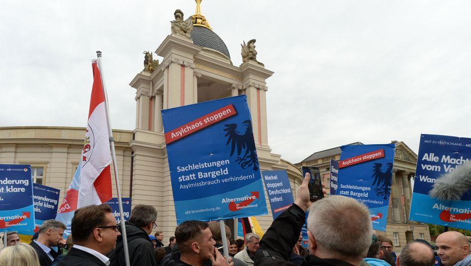 AfD-Demo in Potsdam: Die Populisten verbessern sich im Osten und in Bayern