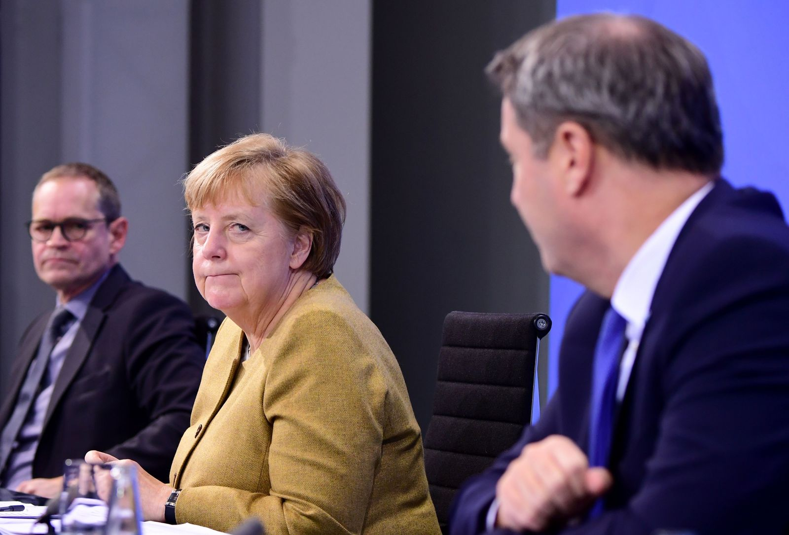 Presser after German Chancellor Merkel's video conference with German State Premiers, Berlin, Germany - 25 Nov 2020