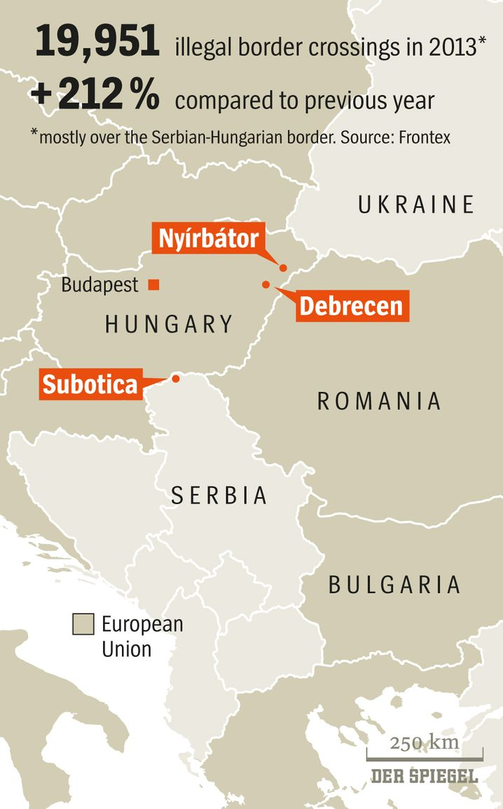 Graphic: Hungary's Hot Spots