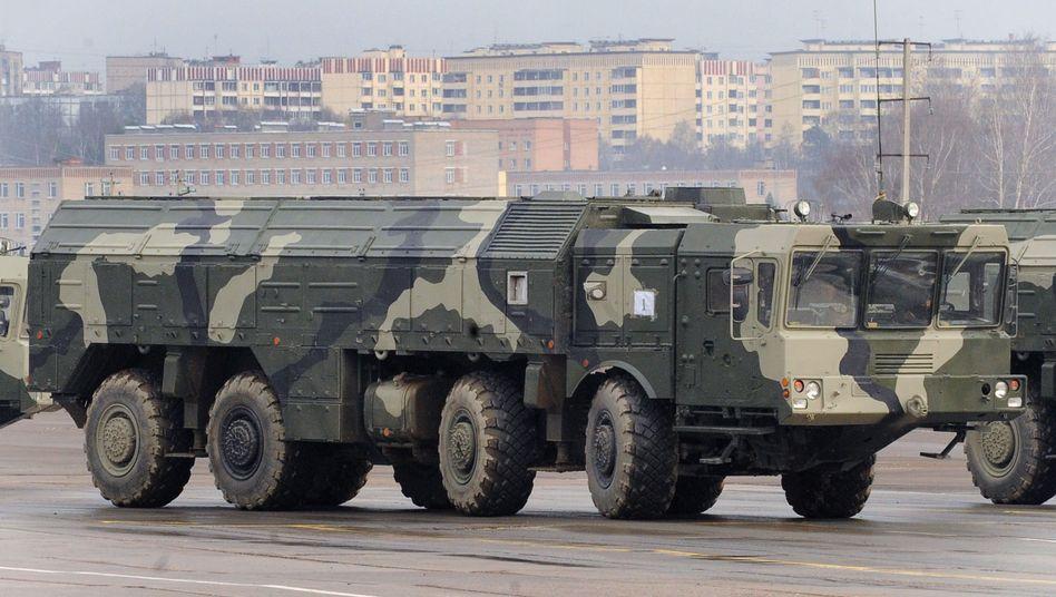 """Abschussfahrzeug der Iskander-M: """"Das sind defensive Waffensysteme"""""""