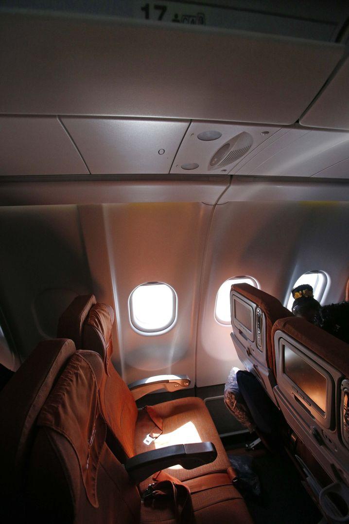 Flug SU150, Sitzplatz 17A