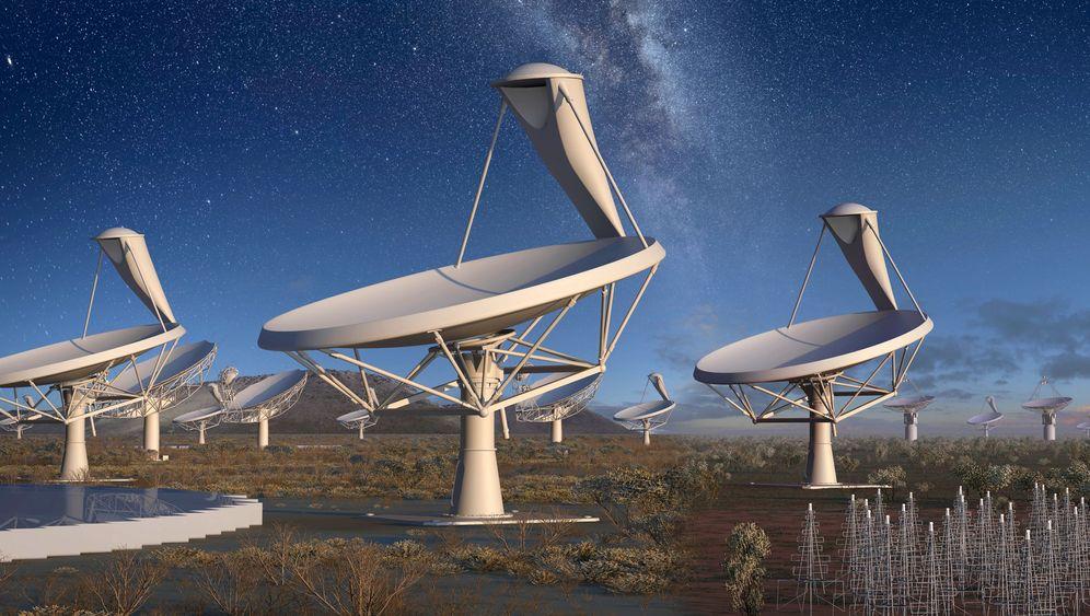Mega-Teleskop SKA: Schüsseln in der Wüste