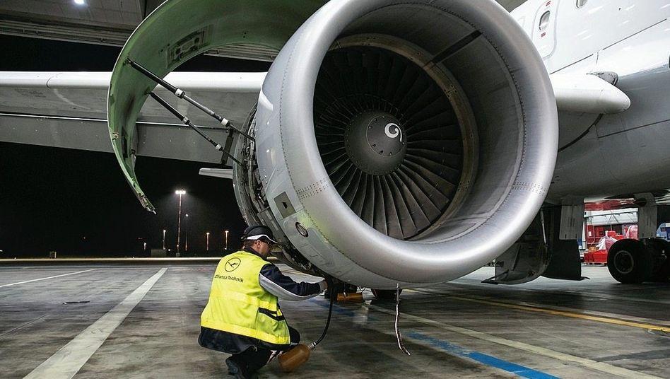 Flugzeugwartung bei Lufthansa Technik