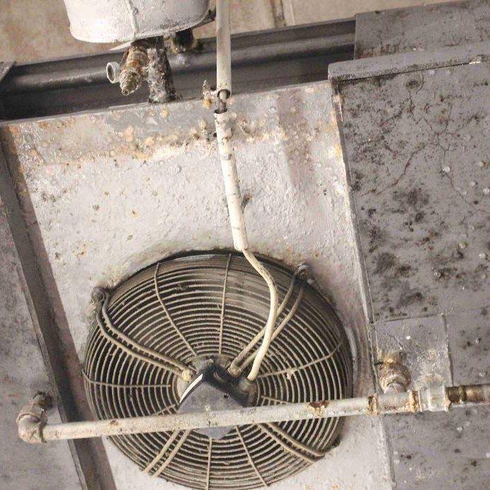 Schimmeliges Kühlaggregat im Wareneingang