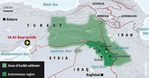 A map of the crisis region.