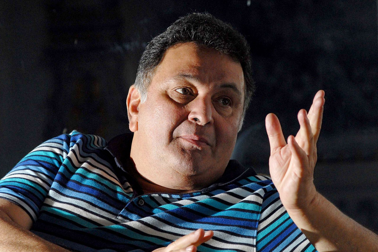 Profile Shoot Of Indian Bollywood Actor Rishi Kapoor