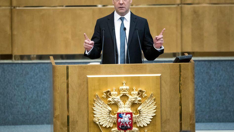 Russlands Ministerpräsident Dmitri Medwedew (Archivfoto)