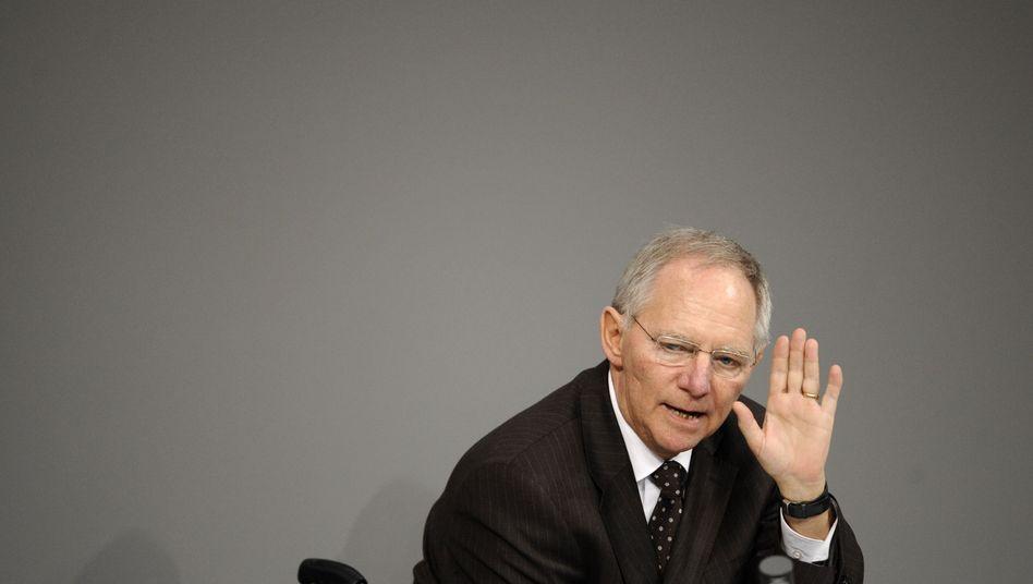 Finanzminister Schäuble: 85,8 Milliarden Euro Neuverschuldung