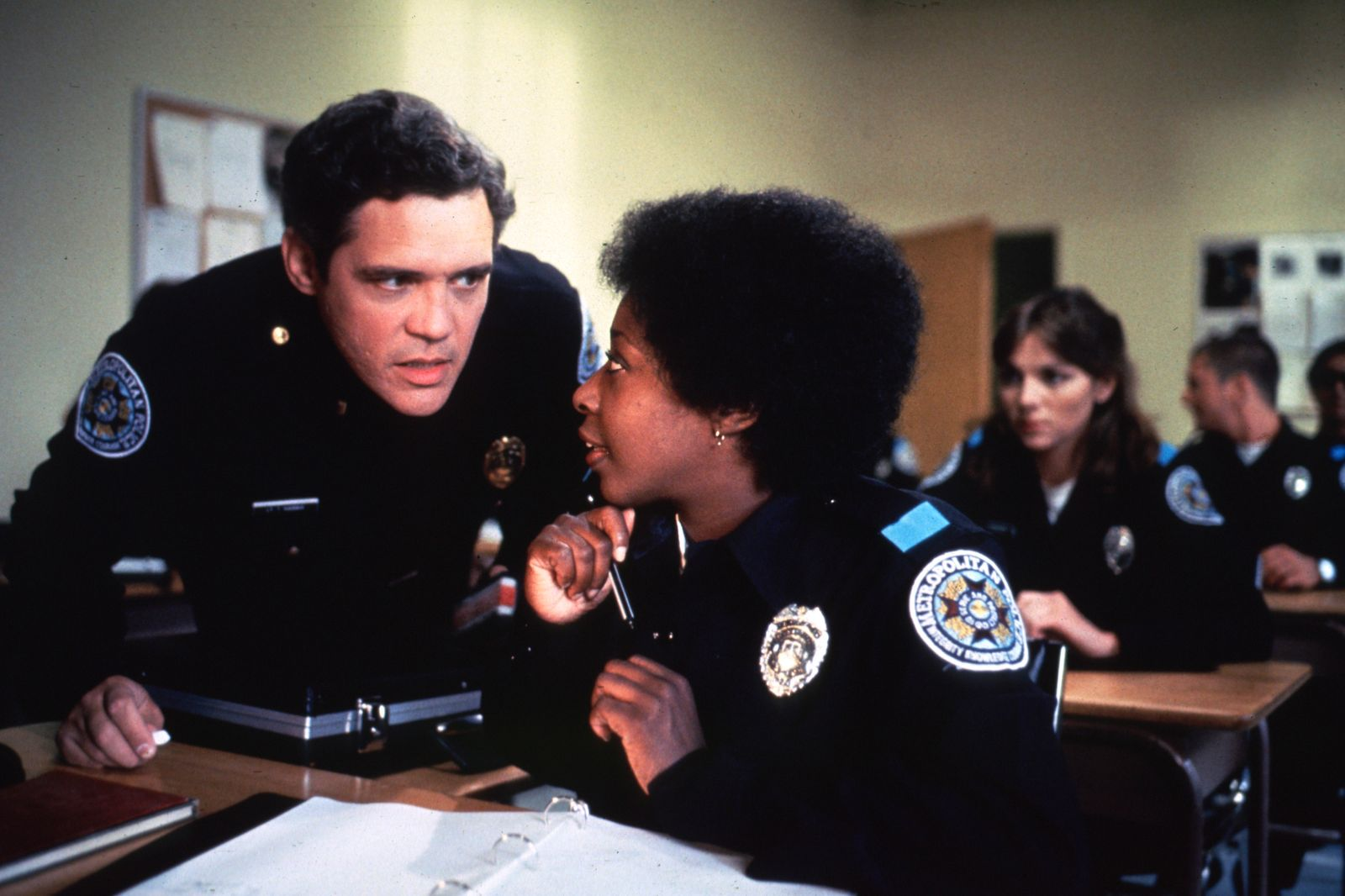"""Police Academy"" G.W. Bailey, Marion Ramsey © 1984 Warner Brothers **I.V. MPTV"