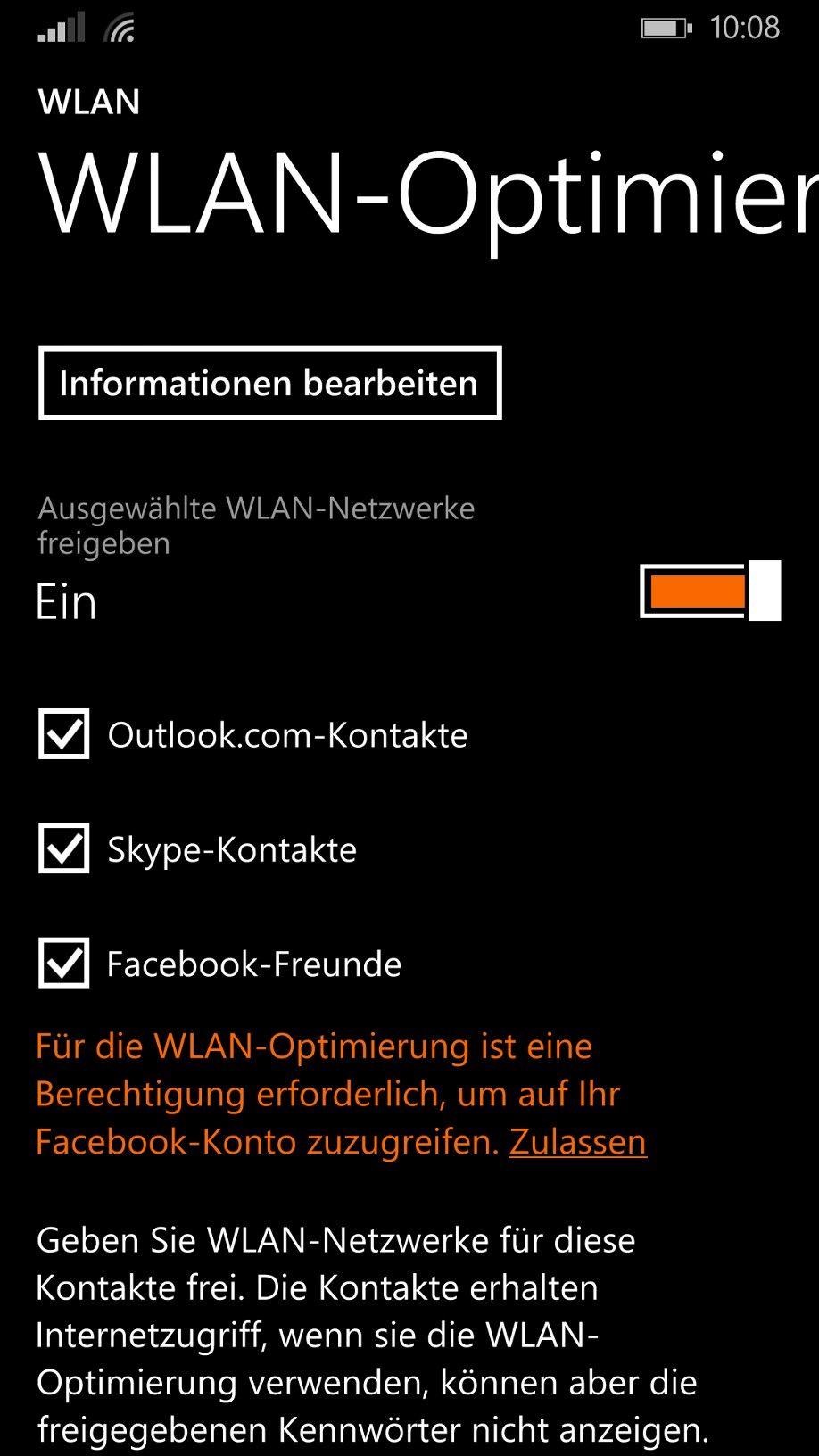 EINMALIGE VERWENDUNG NUR ALS ZITAT Screenshot WiFi Windows 10