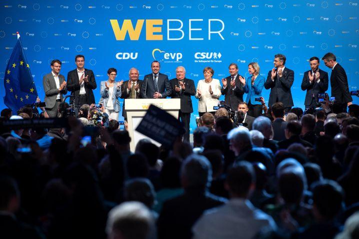 Fast alle waren für Manfred Weber gekommen.