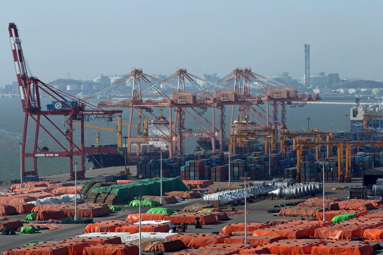 EINMALIGE VERWENDUNG Pyeongtaek Port Ahead Of South Korea-China-Japan Free Trade Talks