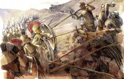 Sklavenaufstand: Nach einem Erdebeben erheben sich die Heloten im Jahre 464 v.Chr.