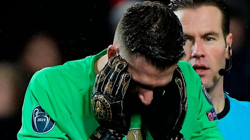 Liverpools Keeper Adrián, der als Ersatz für den verletzten Alisson Becker spielte, unterlief ein folgenschwerer Fehler