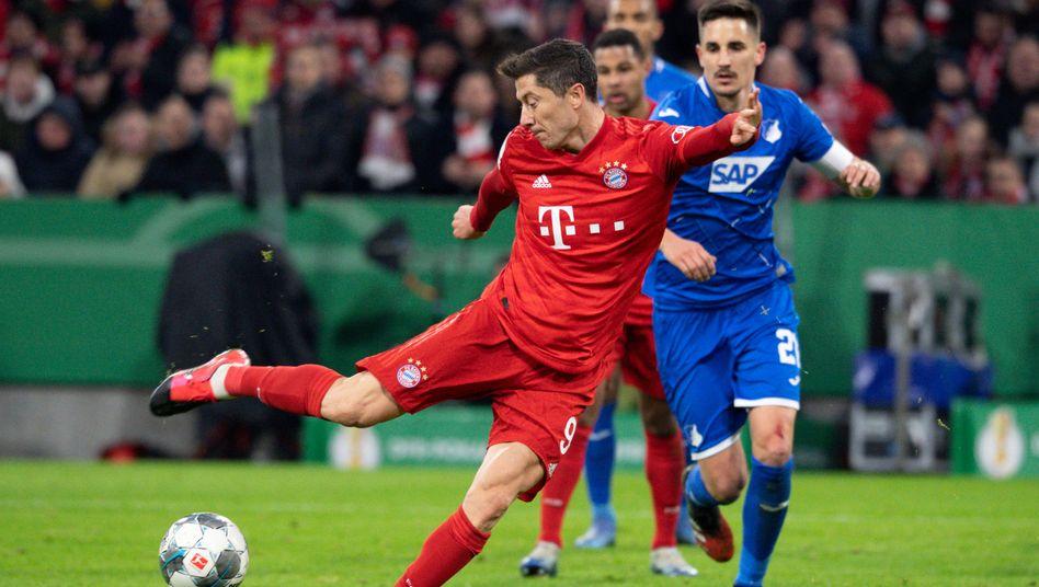 Robert Lewandowski erzielte gegen Hoffenheim zwei Treffer
