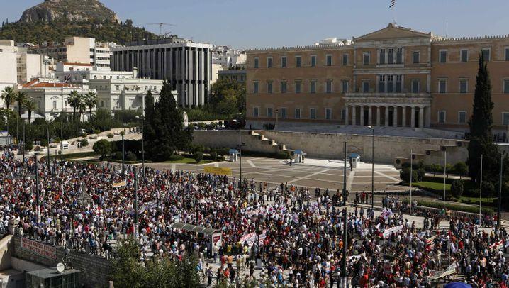 Griechenland: Flammender Protest in Athen
