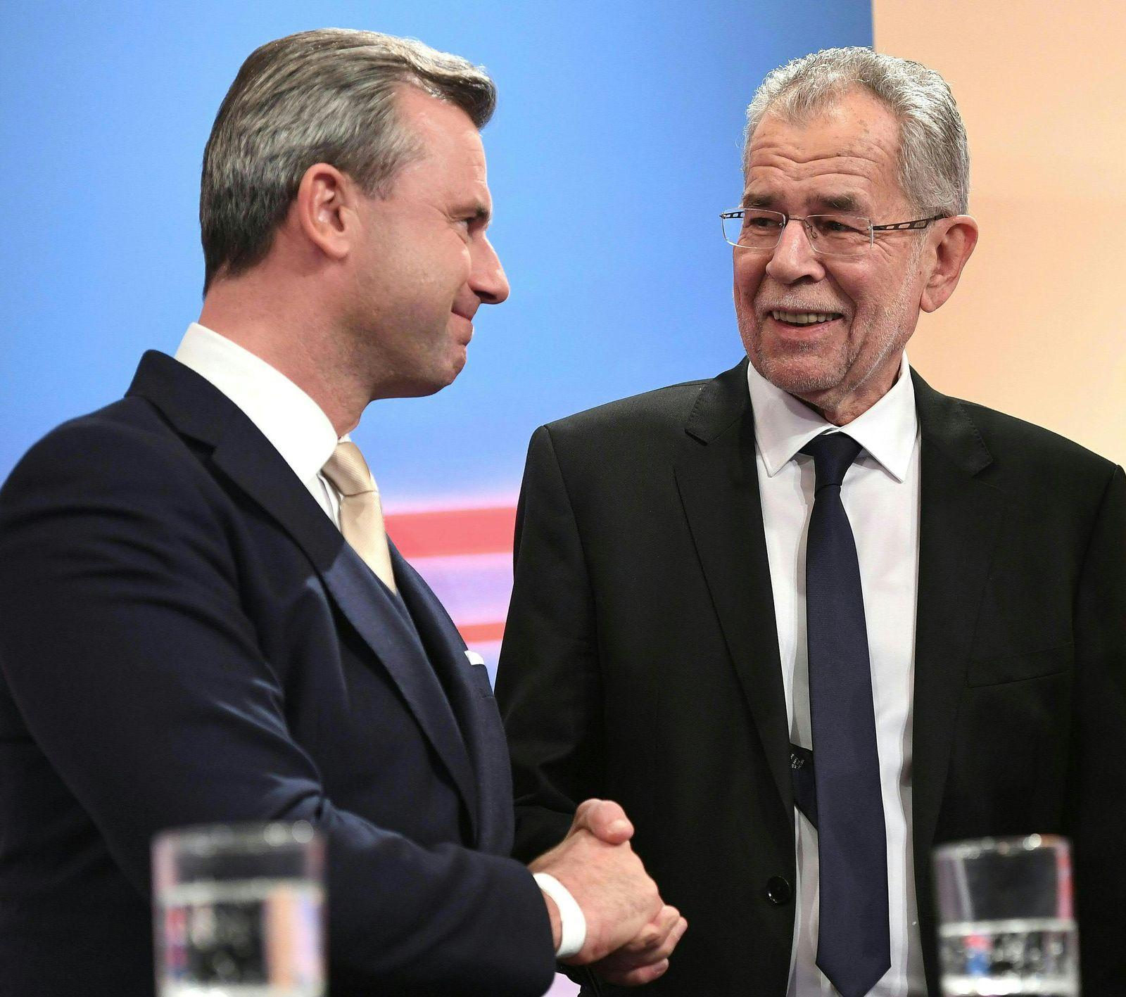 Österreich/ Wahl/ Norbert Hofer/ Alexander van der Bellen