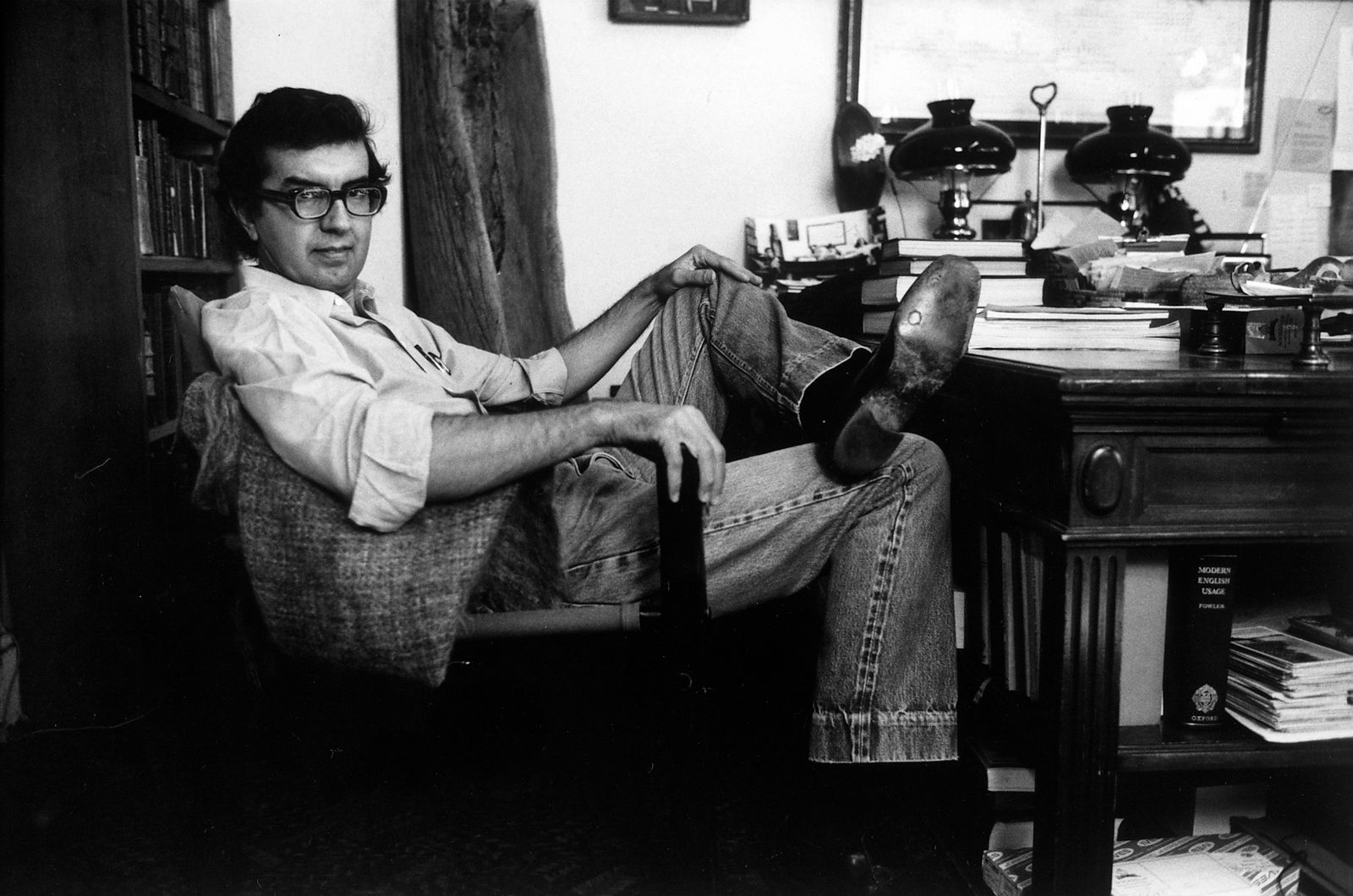 Author Larry McMurtry at his suburban Washington home