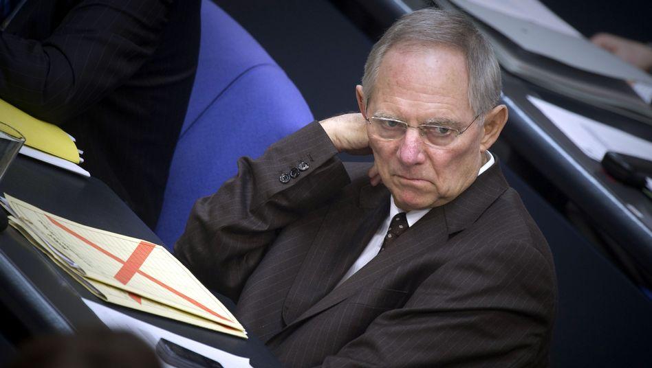 Finanzminister Schäuble: Projekt nicht weiterverfolgen