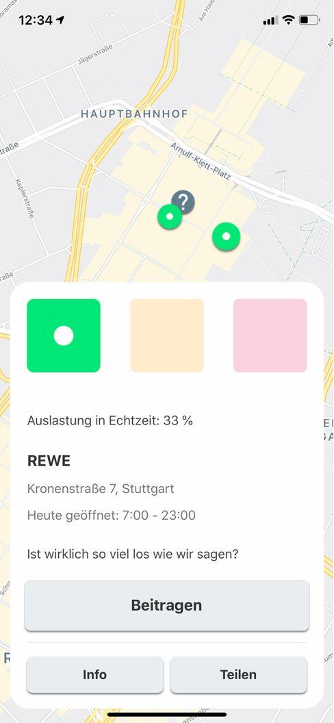 Abstands-App von Lanterne