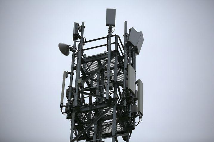 5G-Antennen auf einem Testgelände