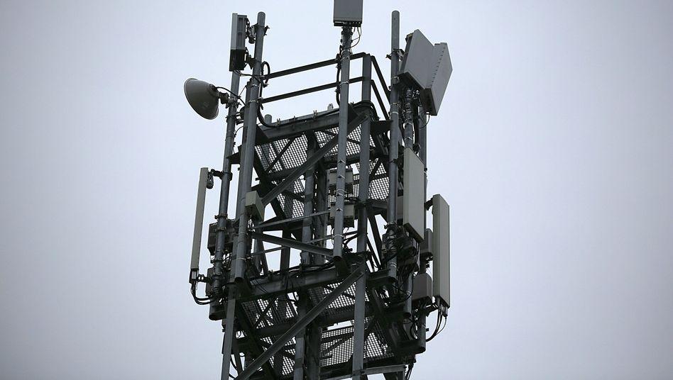5G-Antenne auf einem Testgelände