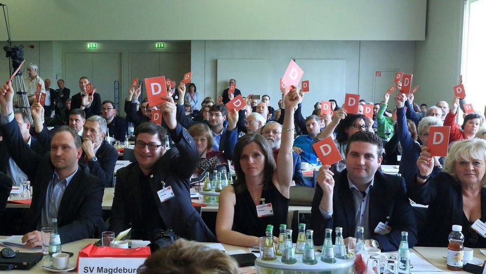 Abstimmung beim Landesparteitag der SPD