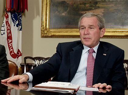 Präsident Bush: Der Siegestaumel ist vergessen