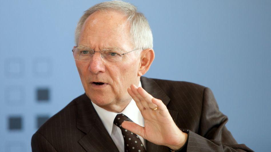 Finanzminister Schäuble: Wegen Euro-Rettungsschirm ab 2013 höhere Neuverschuldung