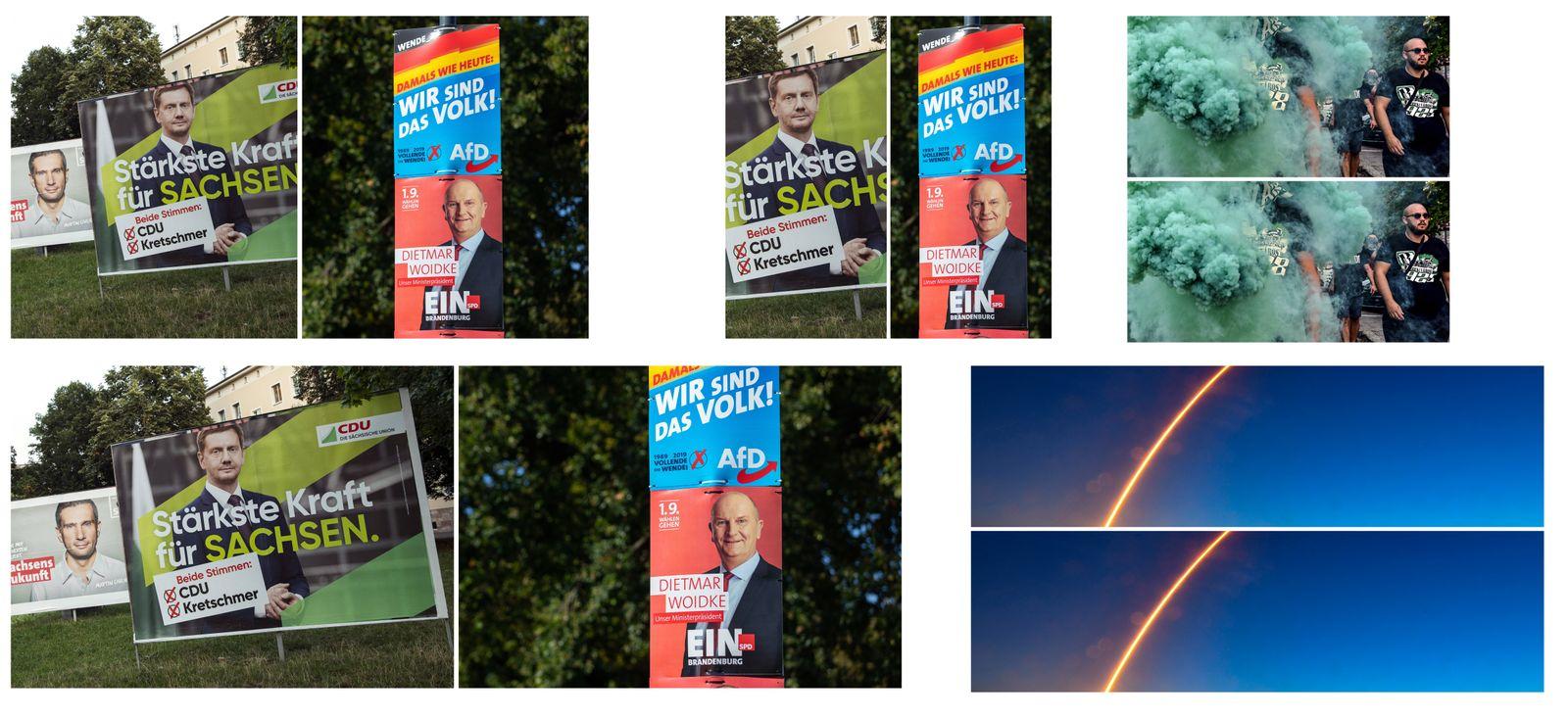 EINMALIGE VERWENDUNG KOMBO Landtagswahlen Sachsen Brandenburg