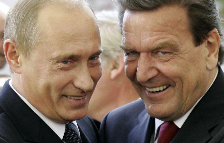 Putin und Schröder 2005 in Berlin