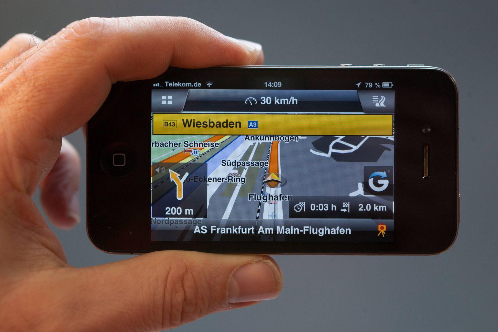 EINMALIGE VERWENDUNG Urteil / Smartphone / Navigation