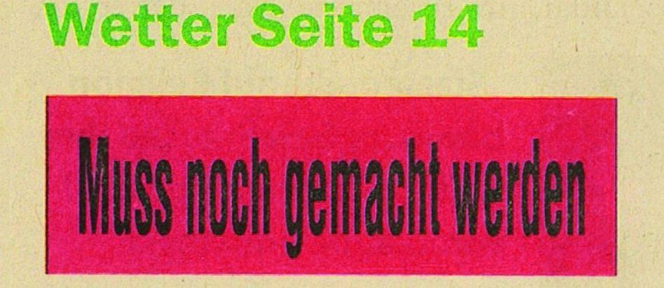 Aus der »Sindelfinger Zeitung/Böblinger Zeitung«