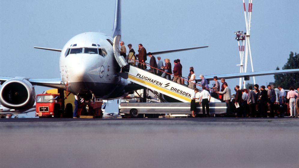 Der erste Flug über die DDR: München - Dresden direkt