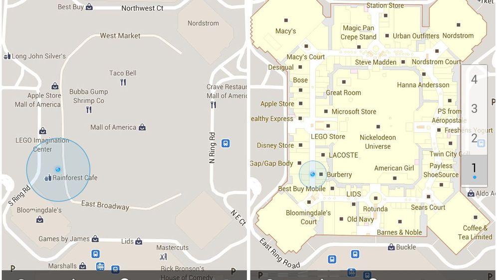 Google Maps 6: Indoor-Navigation per Smartphone