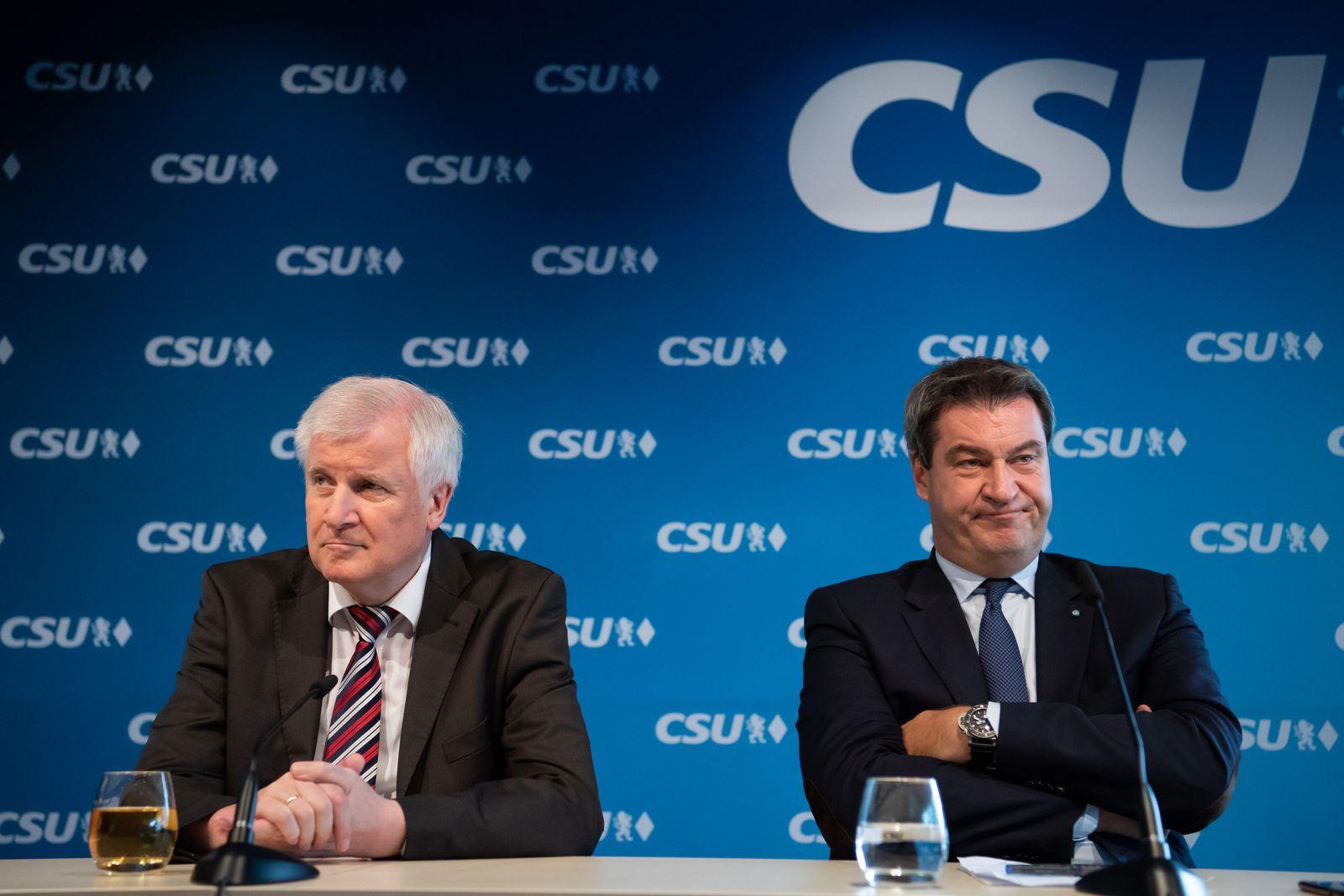 CSU Wahlkampf/ Seehofer/ Söder