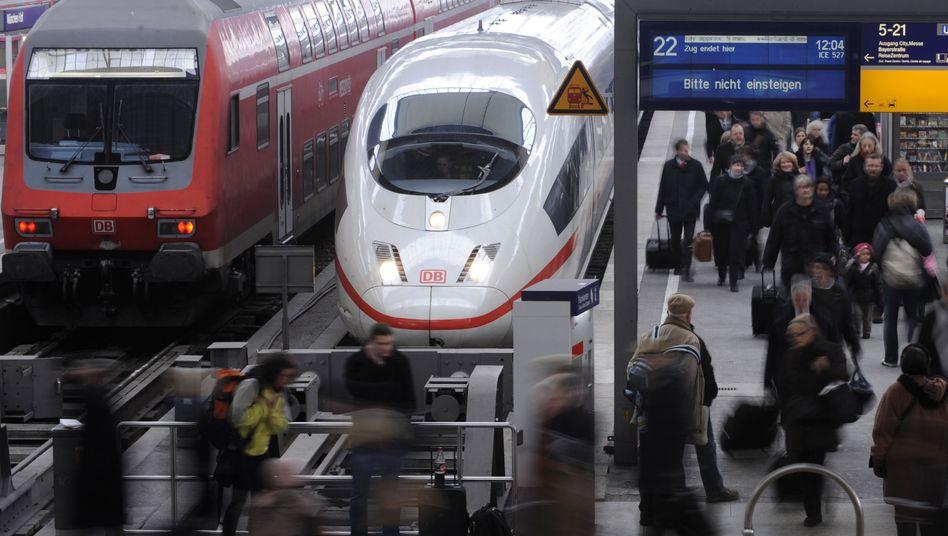 Bahngleis in München (Archivbild): Neue Datenpläne der Bahn