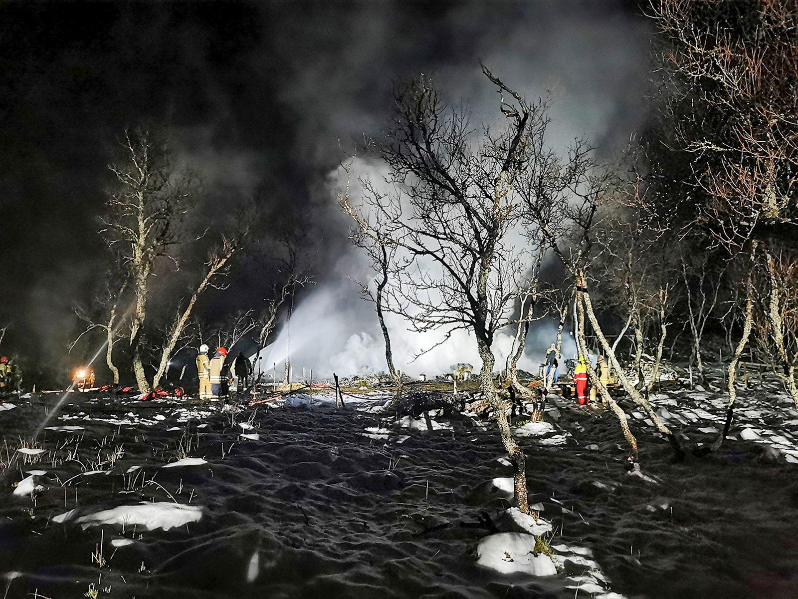 Hüttenbrand in Norwegen