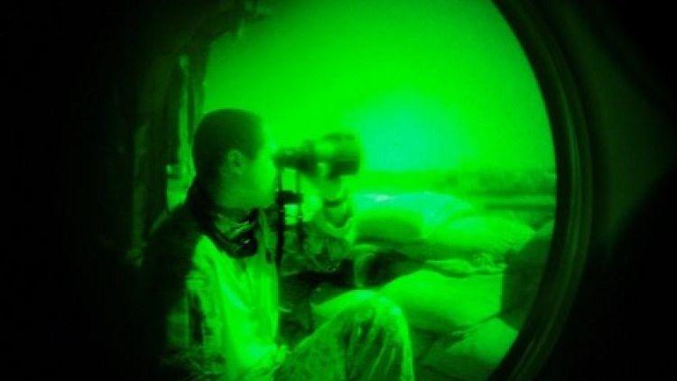 Blick durch ein herkömmliches Nachtsichtgerät