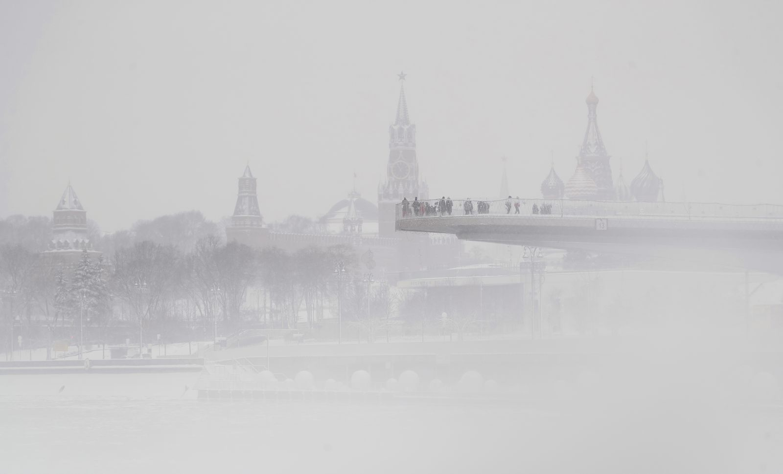 Snowfall in Moscow, Russian Federation - 02 Jan 2021