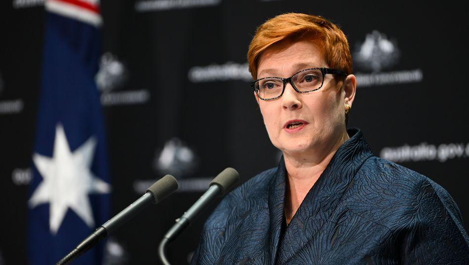 Australiens Außenministerin Marise Payne (Archivfoto, 9. April 2020)